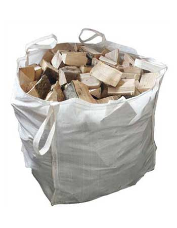 Super dry firewood Logs are available in the net or large ton bags