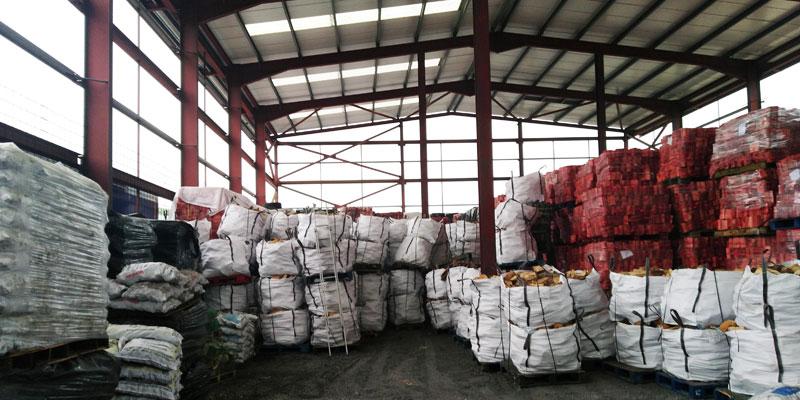 Finglas Fuels warehouse inside logs