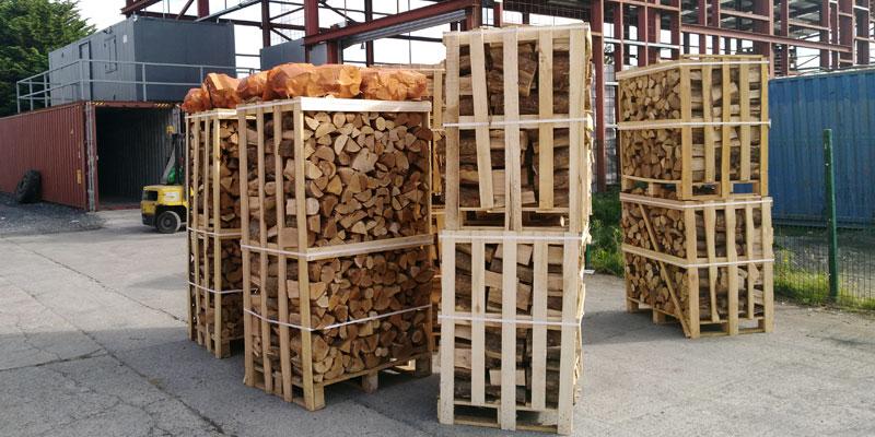 Kiln-dried-firewood crates - Finglas Fuels